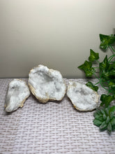 Load image into Gallery viewer, Clear Quartz crystal geode - home décor and table display