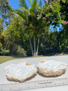 Clear Quartz crystal geode - home décor and table display 26