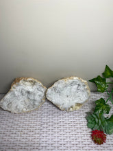 Load image into Gallery viewer, Clear Quartz crystal geode - home décor and table display 26