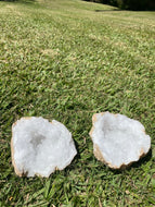 Clear Quartz crystal geode - home décor and table display 27