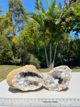 Load image into Gallery viewer, Clear Quartz crystal geode - home décor and table display 29