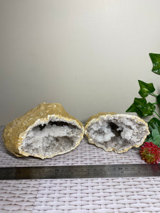 Clear Quartz crystal geode - home décor and table display 29