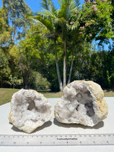 Load image into Gallery viewer, Clear Quartz crystal geode - home décor and table display 30
