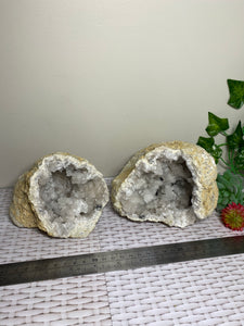 Clear Quartz crystal geode - home décor and table display 30