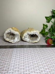 Clear Quartz crystal geode - home décor and table display 31