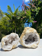 Clear Quartz crystal geode - home décor and table display 32