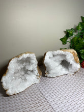 Load image into Gallery viewer, Clear Quartz crystal geode - home décor and table display 33