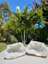 Load image into Gallery viewer, Clear Quartz crystal geode - home décor and table display 34