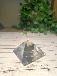Clear Quartz pyramid, paper weight or unique display piece