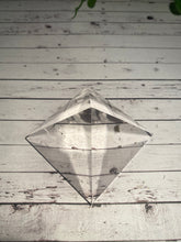 Load image into Gallery viewer, Clear Quartz pyramid, paper weight or unique display piece