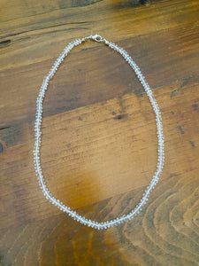 Clear Quartz bead necklace