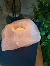 Load image into Gallery viewer, Extra Large Rose Quartz tea light Candle Holder