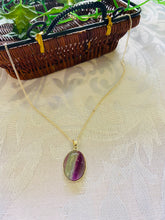Load image into Gallery viewer, Fluorite pendant set in sterling silver - necklace