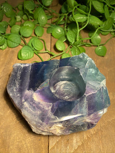 Fluorite tea light Candle Holder