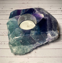 Load image into Gallery viewer, Fluorite tea light Candle Holder