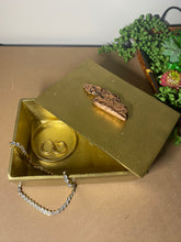 Load image into Gallery viewer, Gold trinket, jewellery or gift box with polished natural Copper handle