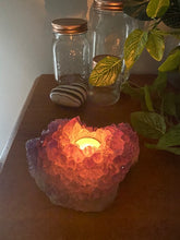 Load image into Gallery viewer, Amethyst crystal candle holder