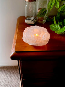 White Quartz Candle Holder