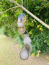 Load image into Gallery viewer, Natural Agate windchime - natural stone home decor or patio display