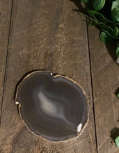 Load image into Gallery viewer, Natural polished Agate Slice drink coaster