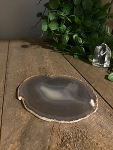 Natural polished Agate Slice drink coaster