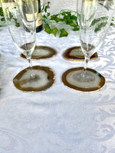 Load image into Gallery viewer, Natural polished Agate Slice drink coasters- set of 4