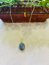 Load image into Gallery viewer, Kyanite pendant set in sterling silver - necklace
