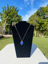 Load image into Gallery viewer, Lapis Lazuli heart shaped Stirling silver pendant - jewellery