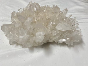 Large Clear Quartz Crystal Cluster - home décor and table display