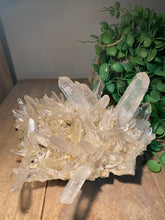 Load image into Gallery viewer, Large Clear Quartz Crystal Cluster - home décor and table display