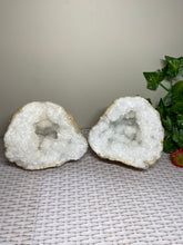 Load image into Gallery viewer, Large Clear Quartz crystal geode - home décor and table display 35