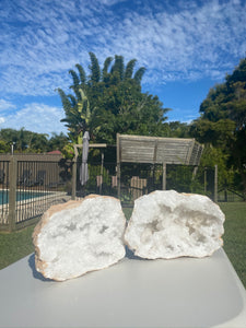 Large Clear Quartz crystal geode - home décor and table display AGMD0001