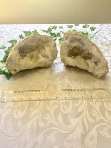 Large Clear Quartz crystal geode - home décor and table display AGMD0002