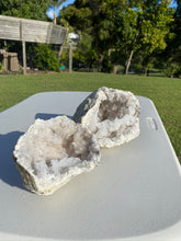Load image into Gallery viewer, Large Clear Quartz crystal geode - home décor and table display AGMD0006