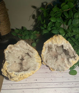 Large Clear Quartz crystal geode - home décor and table display AGMD0008