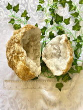 Load image into Gallery viewer, Large Clear Quartz crystal geode - home décor and table display AGMD0007