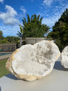 Large Clear Quartz crystal geode - home décor and table display AGMD0007
