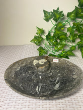 Load image into Gallery viewer, Large Fossil Orthoceras bowl - home decor
