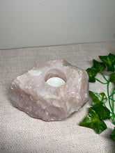 Load image into Gallery viewer, Large Rose Quartz tea light Candle Holder 36
