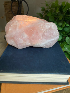 Large Rose Quartz tea light Candle Holder 36