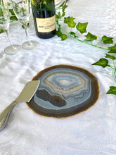 Load image into Gallery viewer, Large polished Natural Agate slice - cheese board or serving platter