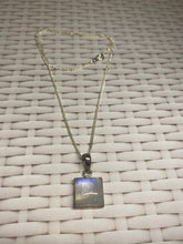 Load image into Gallery viewer, Moonstone sterling silver pendant - necklace