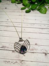Load image into Gallery viewer, Mystic Quartz sterling silver pendant - necklace