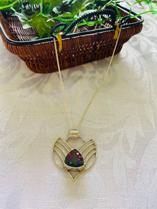 Mystic Quartz sterling silver pendant - necklace