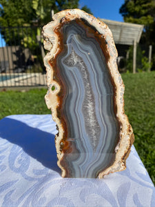 Natural Agate end - natural stone paper weight - home decor or unique office display AEMD0003