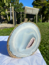 Load image into Gallery viewer, Natural Agate end - natural stone paper weight - home decor or unique office display AEMD0005