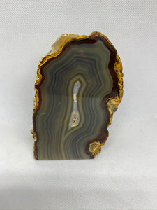 Natural Agate end - natural stone paper weight - home decor or unique office display AEMD0009