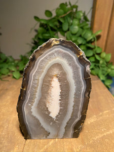 Natural Agate end - natural stone paper weight - home decor or unique office display AEMD0011