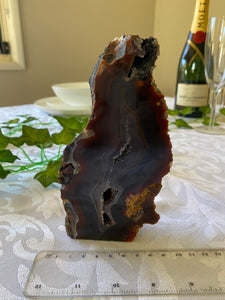 Natural Agate end - natural stone paper weight - home decor or unique office display AEMD0014