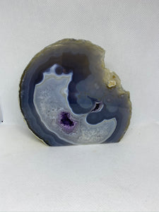 Natural Agate end - natural stone paper weight - home decor or unique office display AEMD0015